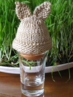 Easter Rabbit Egg Cozy Knitting Pattern Tutorial