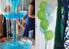 under the sea - Ariel Party Bubble Guppies Party, Blue Punch, Under The Sea Party, Sweet 15, What To Make, Party Drinks, Sweet Sixteen, Floral Wedding, First Birthdays