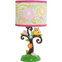 This is the owl lamp I picked out for Lilly's bedroom.