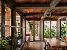 Image 9 of 13 from gallery of Chacala House / CoA arquitectura + Estudio Macías Peredo. Photograph by Jaime Sicilia Tropical Architecture, Interior Architecture, Interior And Exterior, Thai House, Tropical House Design, Tropical Houses, Modern Tropical House, Rest House, House In The Woods