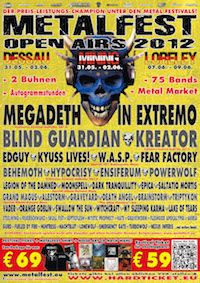 Lineup: Akrea, Alestorm, Behemoth, Blind Guardian, Brainstorm, Dark Tranquillity, Death Angel, Edguy, Emergency Gate, Ensiferum, Epica, Fear Factory,