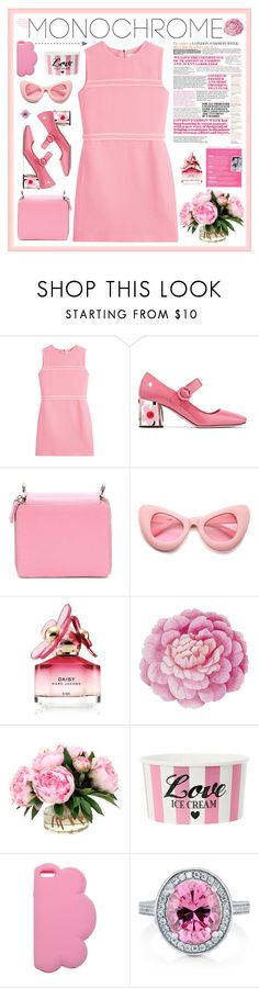 """I'm Back (to the '60)"" by ellyg91 ❤ liked on Polyvore featuring Victoria, Victoria Beckham, Prada, Marques'Almeida, ZeroUV, Marc Jacobs, Ballard Designs, STELLA McCARTNEY, BERRICLE, Pink and contestentry"