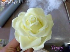 """Como hacer Rosas / Cold porcelain """"How to make Roses"""" Cold Porcelain, Gum Paste, Diy Projects To Try, Flower Crafts, Icing, Decoupage, Polymer Clay, Rose, Flowers"""