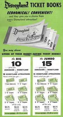 I had no idea that Old style Disneyland ticket booked contained multiple tickets! This will help with our invitation design! :D
