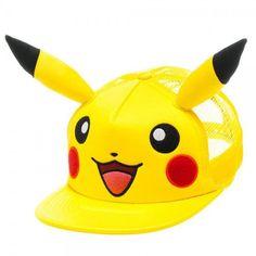Pokemon Pikachu Big Face Snapback Hat