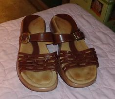 1433a3510ea Womens Dansko Lark Brown Leather Sandals Slides shoes Euro 42 US 11.5- 12  by momspinkelephant1