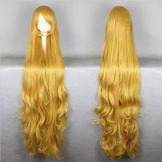 Cheap Halloween Gosick Victorique De Blois 150cm Extend Long Blonde Wavy Cosplay Wig Alternative Measures