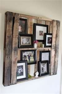 Used Pallet Shadow Box. for moms house
