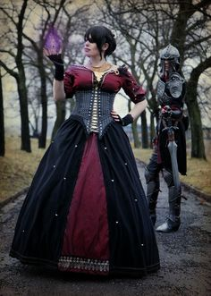 Chrix Design: Morrigan Dragon Age Inquisition: I hope I can find fabric half as amazing as this when I make her.