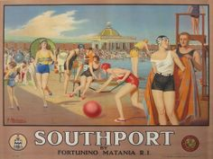 A3/A4 VINTAGE RAILWAY POSTER  RE-PRINT (SOUTHPORT)