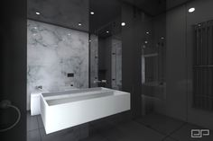 Łazienka marmur biały | Freelancers 3D