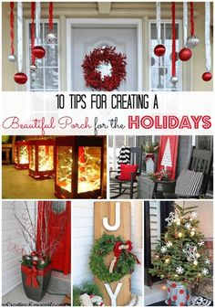 10 Tips for Creating a Beautiful Porch for the Holidays | eBay (spon)