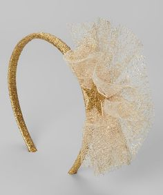 Love this Gold Puffy Glitter Star Headband by Me Oui on #zulily! #zulilyfinds