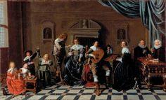 Playing music. Family making music (Jan Miense Molenaer)