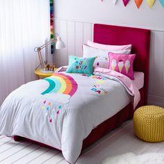 Adairs Kids Girls Rainbow & Sunshine - Bedroom Quilt Covers & Coverlets - Adairs Kids