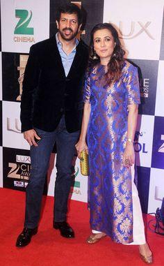 Kabir Khan and Mini Mathur at Zee Cine Awards 2016. #Bollywood #Fashion #Style #Beauty #Hot #Sexy #Desi #WAGS