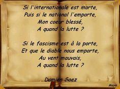 "Damien Saez "" La lutte "" Maya47000"
