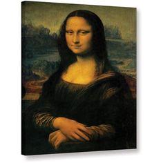 Leonardo Da Vinci Vitruvian Man Gallery-Wrapped Canvas, Size: 36 x 48, Brown
