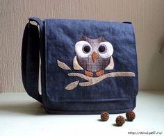 A bolsa carteiro com a coruja aplicada pode receber qualquer outro tipo de bordado ( atenção turma dos bordados eletrônicos…) ou aplicação. Observe que no diagrama cada quadradinho equivale a 2,5 c…