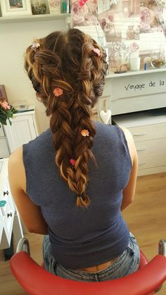 Double braid and flowered