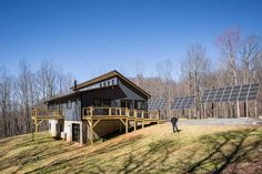 View images, videos and virtual reality tours of Deltec Homes all over the world. These are great examples of how each Deltec is truly unique. Prefab Barn Homes, Prefab Homes Canada, Modern Prefab Homes, Prefabricated Houses, Pole Barn Homes, Modular Homes, Cheap Prefab Homes, Prefab Buildings, Building A New Home