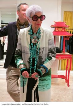 Iris Apfel - Looks like she's with Dries Van Nooten