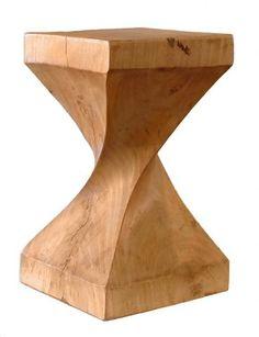 Mango Wood Helix Stool