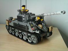 Sherman Firefly Vc #4 by The Desert Rat, via Flickr Lego Ww2, Lego Army, Lego Military, Military Vehicles, Sherman Firefly, Army Party, Awesome Lego, Lego Stuff, Lego Ideas