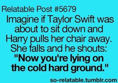 I laughed way too hard.<<< okay im a Directioner ,this was funny! A lot haha no offence swiftie Teen Posts, Teenager Posts, Funny Quotes, Funny Memes, Jokes, That's Hilarious, Videos Funny, Bae, I Can Relate