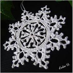 Háčkovaná snehová vločka  Amazing crochet snowflake!