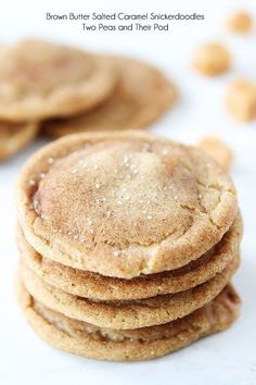 Brown butter salted caramel snickerdoodles...made 3 dozen, put half a Carmel, 1/4 cup molasses, baked for 10 minutes...delicious!