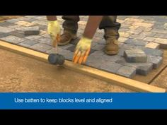 How to Lay a Driveway - Bradstone - YouTube