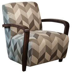 """RC Willey - 34"""" Patterned Upholstered Accent Chair"""