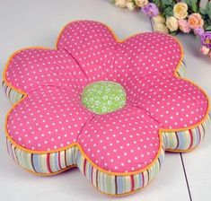 Stunning Unique Ideas: How To Make A Futon Mattress gray futon pillows.How To Make A Futon Mattress futon bedroom for kids.Futon Plans How To Build. Sewing Projects For Kids, Sewing For Kids, Sewing Crafts, Home Theater Furniture, Cartoon Flowers, Patchwork Cushion, Grey Pillows, Flower Pillow, Sewing Pillows