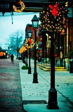 Christmas wreaths and lights