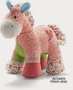 Mimin toys: cavalinho com retalhos