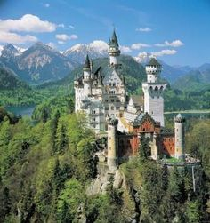 Neuschwanstein Castle in Black Forest, Germany