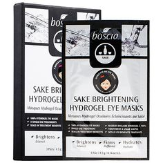 What it is:An innovative hydrogel eye mask infused with sake, antioxidants, and plant extract. What it is formulated to do:Revive the skin around the delicate eye area with these Sake Brightening Hydrogel Eye Masks. Infused with sake, antioxidants,