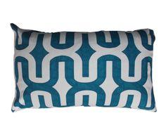 Housse de coussin KIZZIE Coton, Bleu et blanc - 61*36 | Westwing Home & Living