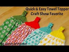 In this video we will be learning to crochet another craft show favorite! This beautiful Quick & Easy Towel Topper is perfect for any kitchen! Please check o...