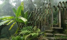 Las Pozas, Mexico surrealist art patron, poet and eccentric Edward James, this gem is meant to emulate the Garden of Eden. Concrete structures, waterfalls and exotic tropical plants dot the 80 acres of land in Mexico's subtropical rainforest.