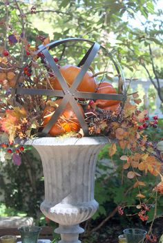 Have you been to Atchison Kansas? Not only is Atchison the birthplace of Amelia Earhart, it is also where Mary Carol Garrity resides. Autumn Decorating, Porch Decorating, Decorating Ideas, Decor Ideas, Fall Home Decor, Autumn Home, Fall Containers, Succulent Containers, Container Flowers