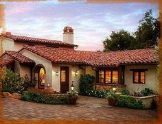 Spanish style homes – Mediterranean Home Decor Mission Style Homes, Hacienda Style Homes, Mediterranean Style Homes, Spanish Style Homes, Spanish Bungalow, Spanish House, Spanish Colonial, Dream Home Design, House Design