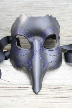 MADE TO ORDER Leather Crow Raven Mask by SilverCicadaDesigns, $90.00