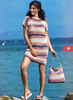 Пляжное платье и сумка | Вязание и рукоделие