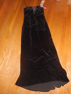 Betsy & Adam Formal Prom Evening Party Gown Floor Length Dress Size 14 Black NWT