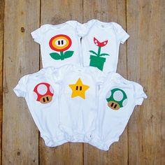 Pack de roba de bebè per a pares fans de Nintendo
