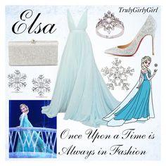 """Disney Style: Elsa"" by trulygirlygirl ❤ liked on Polyvore featuring Christian Louboutin, La Preciosa, Miadora and Disney"