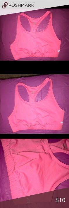 Champion Pink Women's Sports Bra XXL Women's champion sports bra in gorgeous pink color!  Size XXL. Worn once, excellent condition. No flaws, no stains. Champion Intimates & Sleepwear Bras