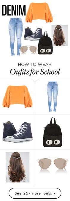 """Distressed Denim"" by alliexo95 on Polyvore featuring TIBI, Converse, ASOS and Christian Dior"